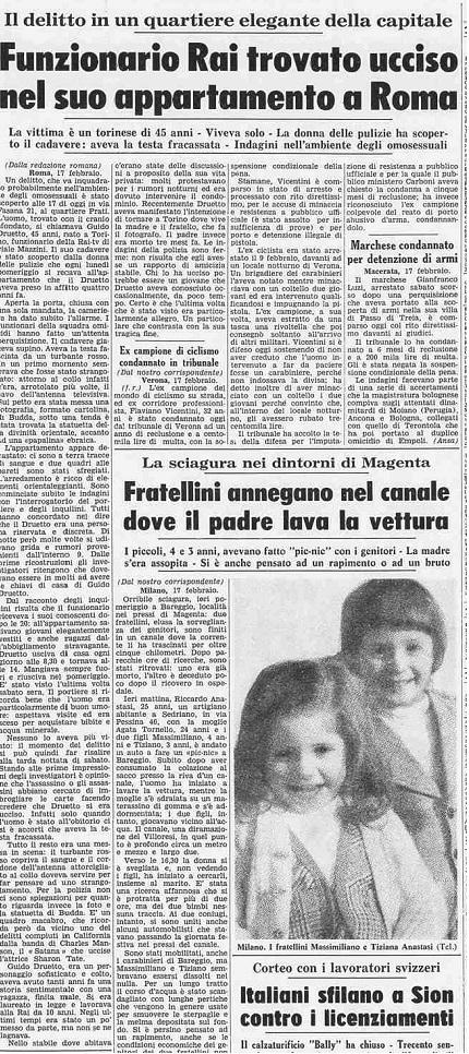 La stampa - 18/2/1975 ESCAPE='HTML'
