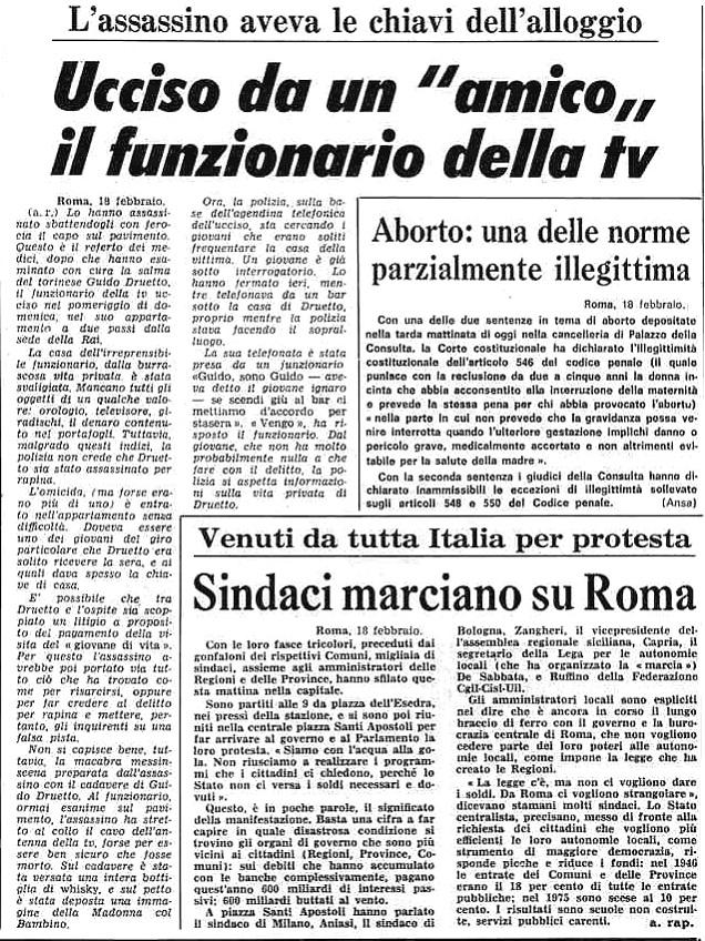 Stampa sera - 18/2/1975 ESCAPE='HTML'
